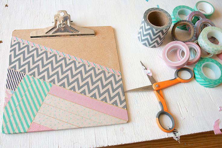 DIY Washi Tape Clipboard