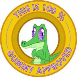My Little Pony Friendship is Magic This is 100% Gummy Approved sticker by ~Ambris on deviantART.