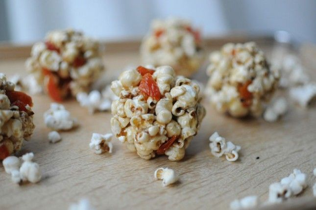 Quick and Easy Popcorn Balls via Brit + Co.