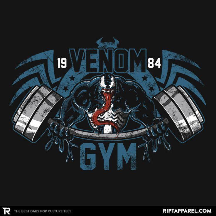 Spider-Man T-Shirt by Soulkr. Venom Gym is a gym parody t-shirt for fans of Spider-Man and Spider-Man supervillain Venom.