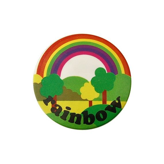 Vintage Rainbow Badge - British Kids TV Show