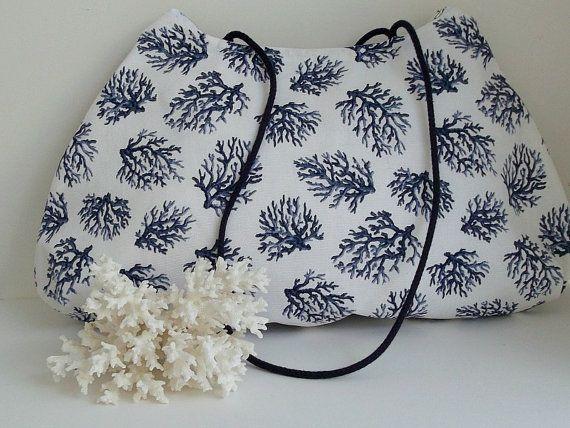 SALE  Nautical Purse  Summer Purse  Shoulder Bag   Over by ClassA