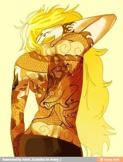 RWBY - Yang Xiao Long If Yang had a tattoo it would totally look like this!
