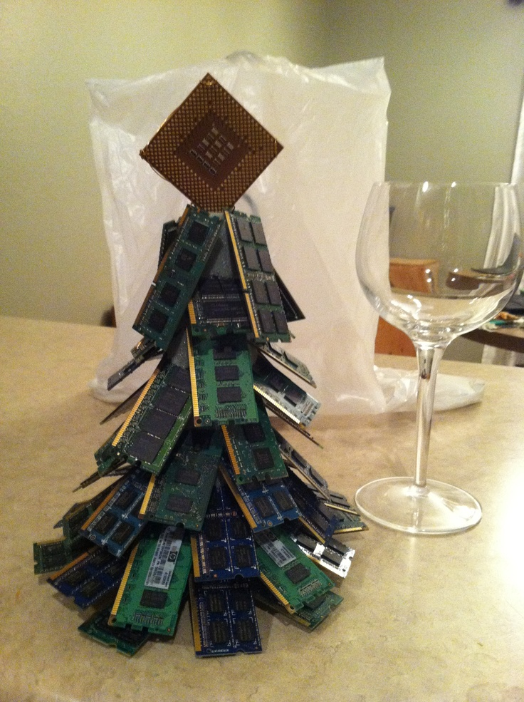 Christmas Tree Made Of Computer Parts Things I Want Pinterest Trees Trees And