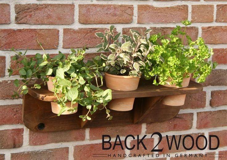kr uterregal ideal f r balkon oder k che von back2wood auf k che pinterest. Black Bedroom Furniture Sets. Home Design Ideas