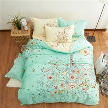 Новый boho королева комплект, 4 шт. кровать не устанавливает утешитель, 100% хлопок дети цветочный простыня, Королева полный размер девушки постельные принадлежности подшивок(China (Mainland))