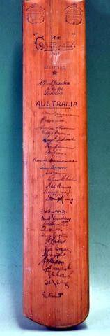 England v Australia 1948 Signed Cricket Bat