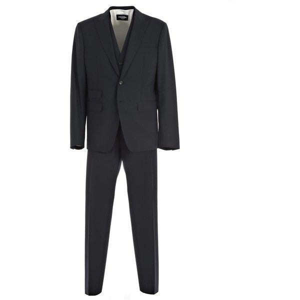 Suit ($1,105) ❤ liked on Polyvore featuring men's fashion, men's clothing, men's suits, navy, mens wool suits, mens navy blue suit, old navy mens clothing, merino wool mens clothing and mens navy suit