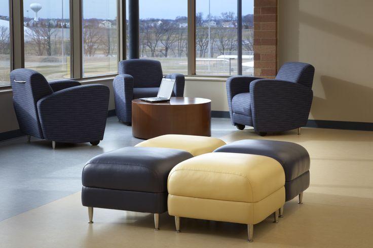East Ridge High School (Woodbury, MN) Reno Lounge Seating In Lobby/reception Area