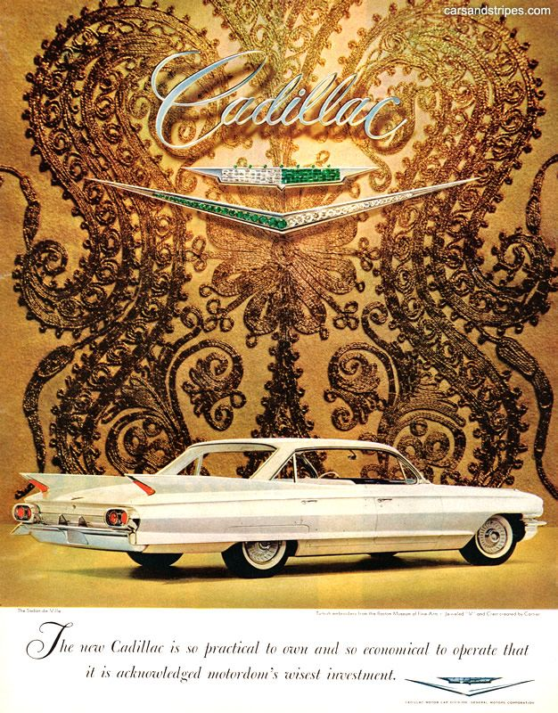 1961 Cadillac - Practical to own - Original Ad