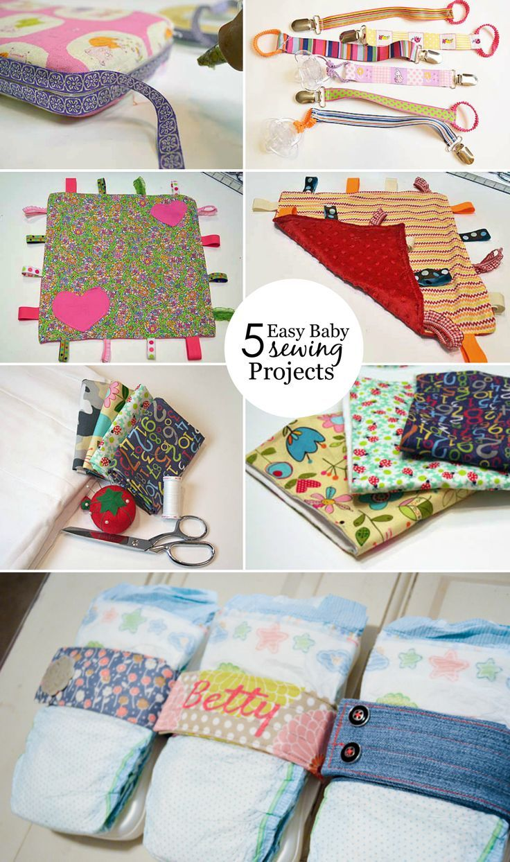 5 easy DIY baby sewing projects you can make for your next baby shower.