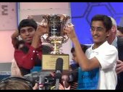 Winning moment for Spelling Bee Co-Champions - YouTube