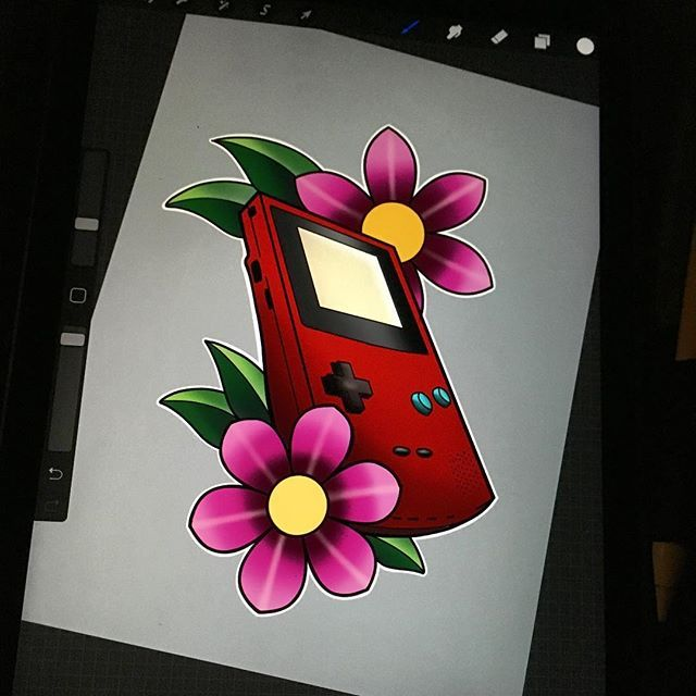When you have a baby you draw at 4am. This game boy color is up for grabs. #newborn #art #ipadproart #colortattoos #757tattoos #independencetattoo #apple #gameboycolor #tattoos #tattoosmart #procreate #fathersday