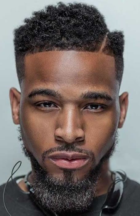 50 Of The Coolest Men's Black & Afro Hairstyles: Hard Parting #menshairstyles #menshair #afro