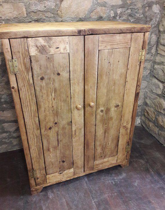 Linen Press Wardrobe Kitchen Cupboard Amoire Handmade Reclaimed Wood