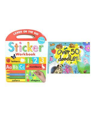 Over 50 Doodles & Sticker Workbook Set