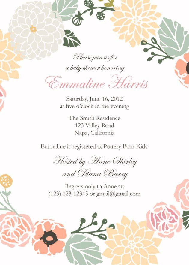 free printable baby shower invitations for girls 2