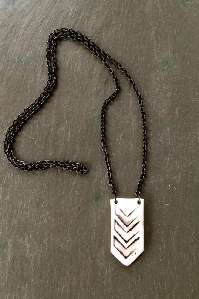 Image of unisex chevron necklace