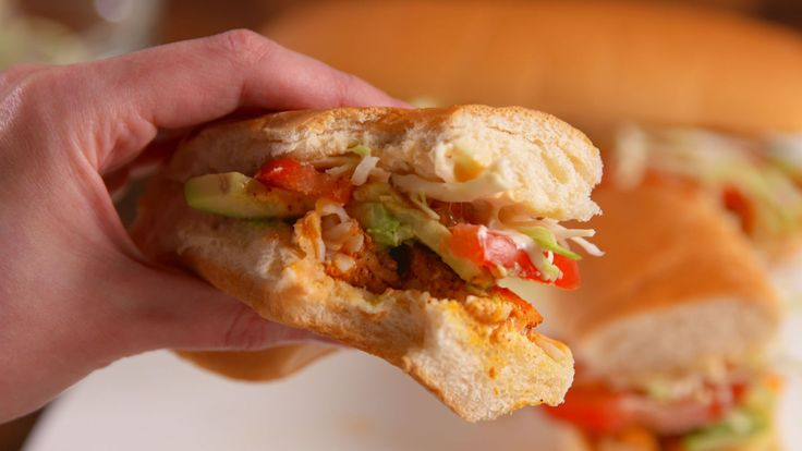 Mexican-Style Shrimp Sandwiches