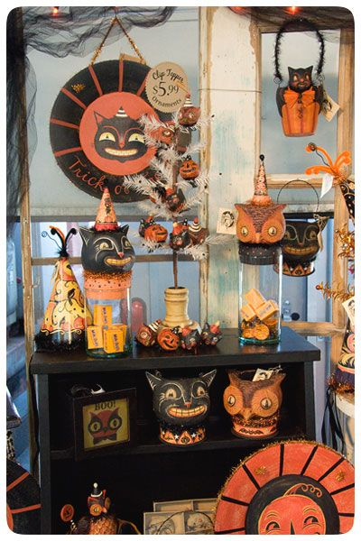 johanna parker halloween decor vintage halloween pinterest. Black Bedroom Furniture Sets. Home Design Ideas