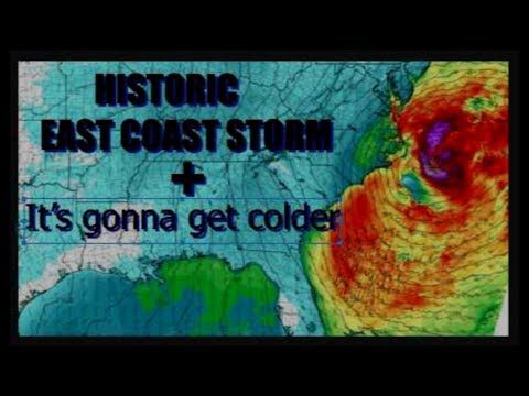 (11) Historic East Coast STORM possible + It is going to get Colder - YouTube