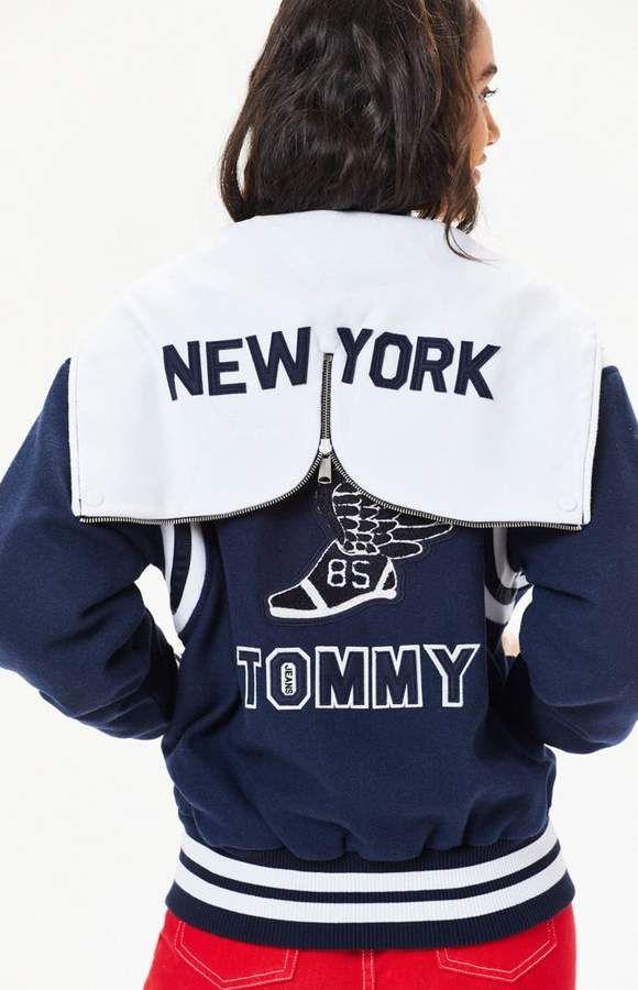 6abd54558 Tommy Jeans Varsity Hooded Bomber Jacket | Tommy Hilfiger | Hooded ...