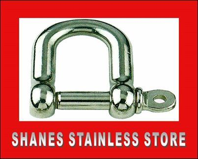 Stainless Steel Shackles. * Quality stainless steel fitting used in wire balustrading. * Other sizes available as well. List price: $3.00 #Stainlesssteel