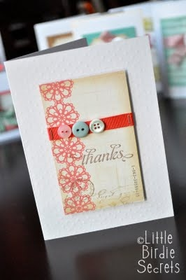 Link to several simple thank you cards: Cards Lov Ems, Sweet Cards, Cards Malinda, Cards Ideas, Handmade Cards, Cards Everyday, Thanks You Cards, Cards If, Paper Crafts