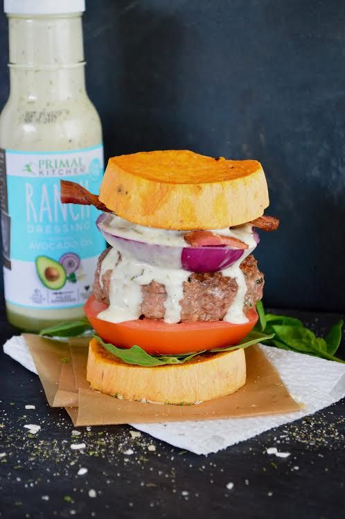 Burger with Ranch