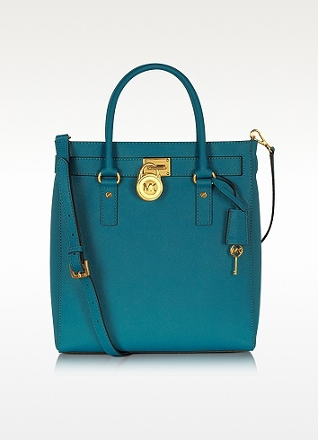 Michael Kors Hamilton Saffiano Leather Tote - Turquoise