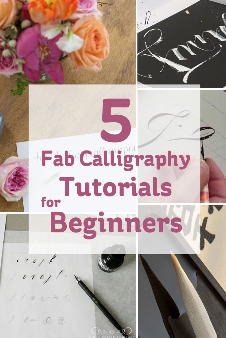 Beautiful, hand-drawn typography has always appealed to me. After doing research online, I have found some fantastic and very simple calligraphy tutorials.
