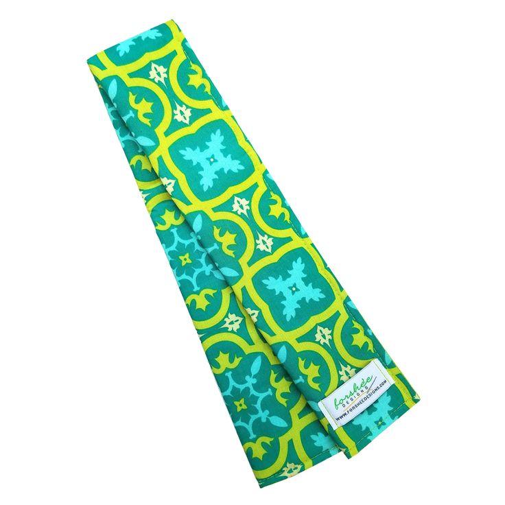 CLEARANCE Digital Camera Strap | Handmade Camera Strap Cover | CM0004 | Green Tiles, $12.50
