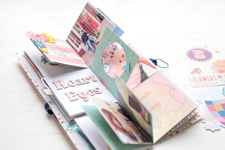 """Mini-Flip-Album von Steffi Ried mit der Pink Paislee Kollektion """"WildChild"""" - Video auf YouTube unter """"Scrapbook Werkstatt"""" zu finden / Beitrag in der Inspirationsgalerie der SBW #steffiried #minialbum #minibook #pinkpaislee #ppwildchild #scrapbooking #papercrafts"""