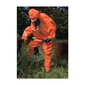 Encapsulated Suit, L/XL, orange, Zytron 500 https://www.safetygearhq.com/product/personal-safety/safety-clothing/encapsulated-suit-lxl-orange-zytron-500/
