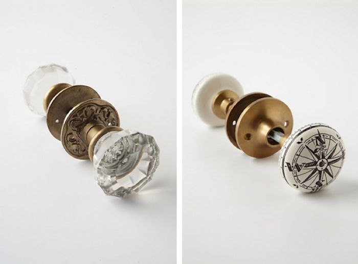 Glass And Nautical Doorknobs From Anthropologie, Remodelista