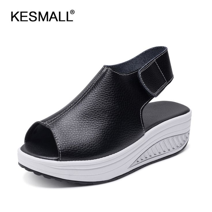 Women Casual Sandals 2019 Summer Platform Shoes Woman PU Leather Wedges Zapatos Mujer Comfortable Female Beach Sandal Footwear