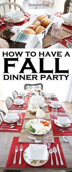 how to have a fall dinner party   Thanksgiving