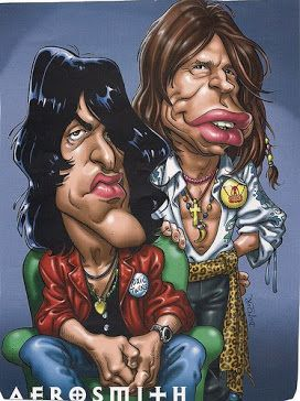 AEROSMITH CARICATURE