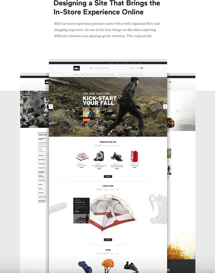 REI eCommerce Platform on Behance