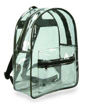 Clear Plastic Vinyl Backpack