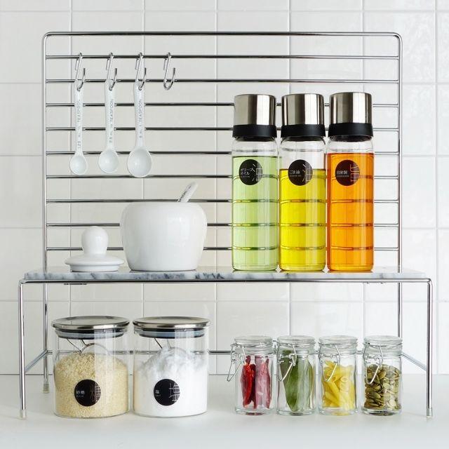 tuuliさんの、キッチン,ブログ更新しましたー,キッチン収納,調味料収納,のお部屋写真