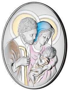 Obrazek Święta Rodzina w kolorze prezent na ślub, święta, komunia, chrzciny.