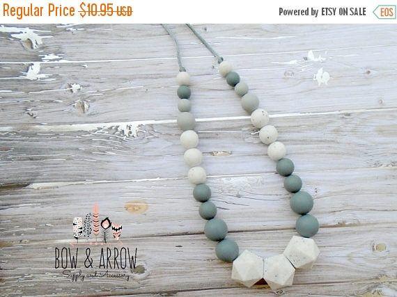 15% OFF Teething Necklace, Nursing Necklace, Teething Beads, Breastfeeding Wear,Teething Toy, Silicone Teething Beads/Tula Accessories/