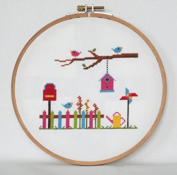 Spring Garden Cross Stitch Pat