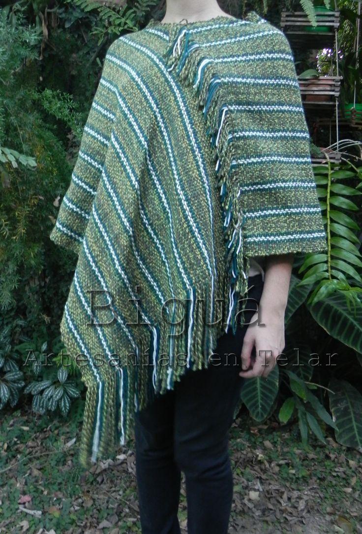 Diseño femenino y moderno. #Poncho realizado en #telar María
