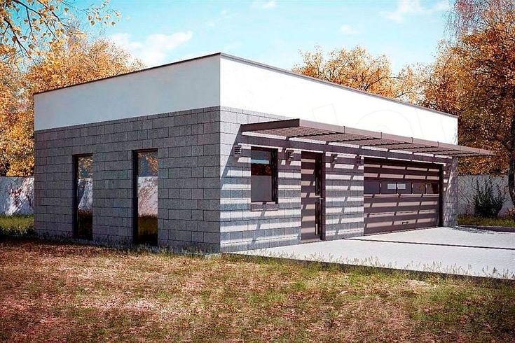 projekt G165 - Budynek garażowo - gospodarczy PRA1140