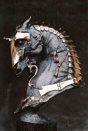 Douwe Blumberg, Warhorse 1 - Medieval bronze.