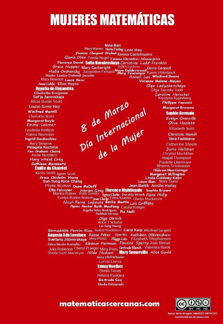 8 de Marzo: Día Internacional de la Mujer. Mujeres Matemáticas.