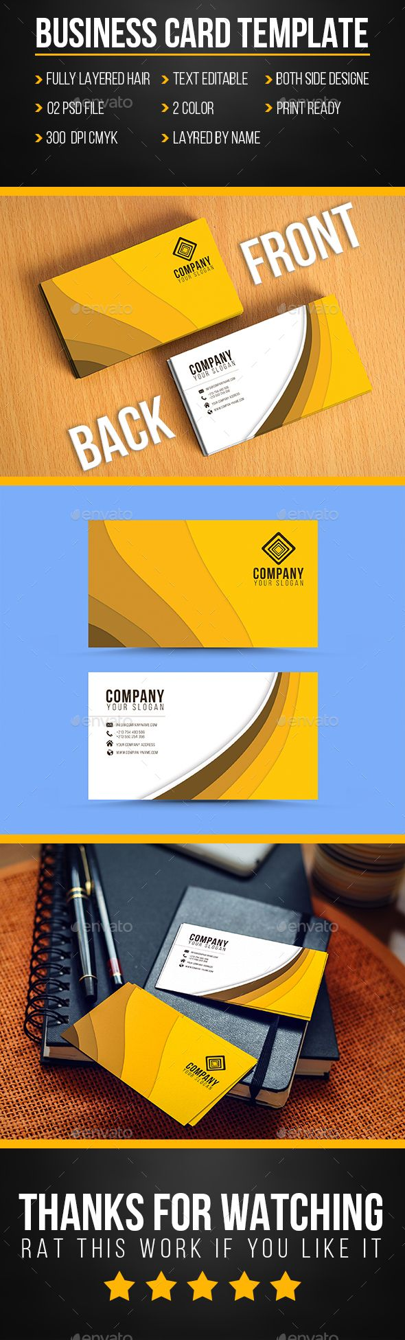 720 best business card mockup images on pinterest miniatures business card template photoshop psd pack logo available here https reheart Choice Image