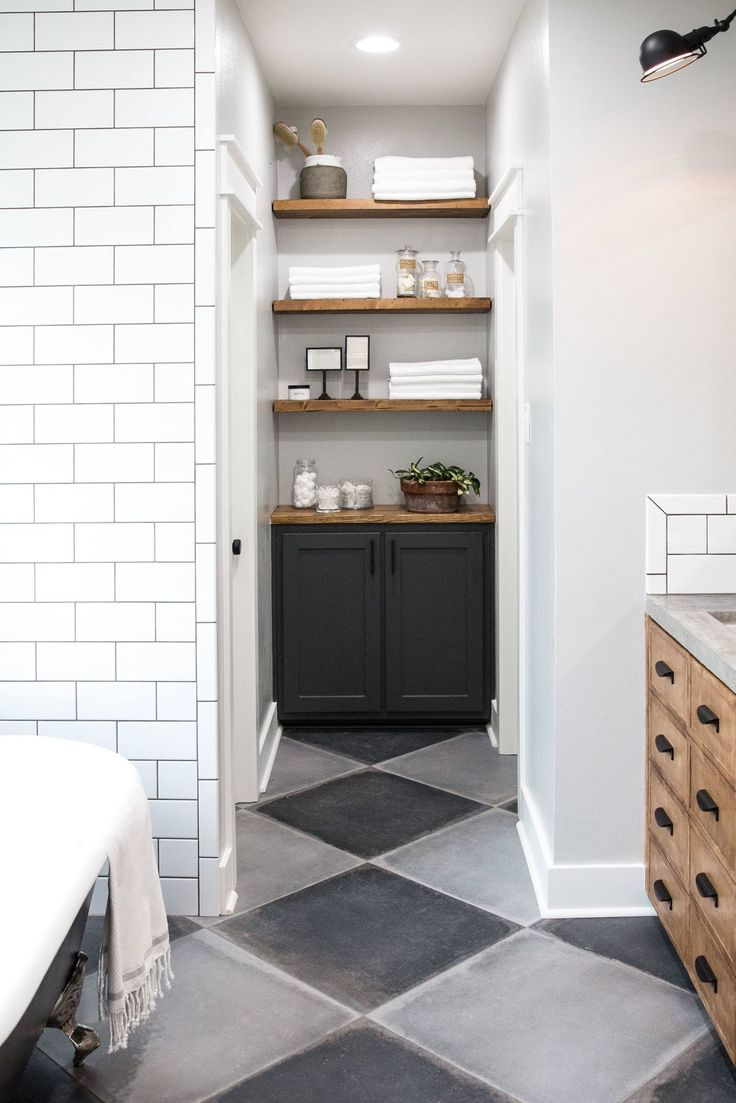 25 best ideas about fixer upper episodes on pinterest - Fixer upper long narrow bathroom ...